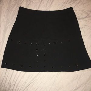 Black skirt with studs